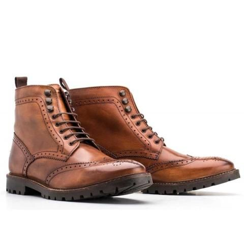 BASE LONDON - Bottes Troop Washed - Tan - LE CAPITAINE D'A BORD - 1