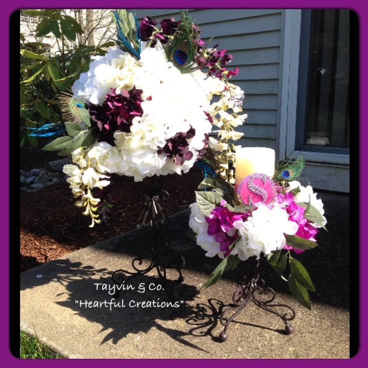 112 best floral arrangements diy images on pinterest for Flower arrangements for sweet 16