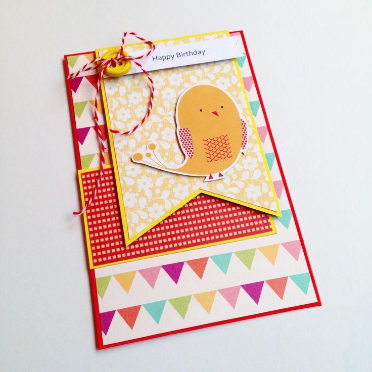 Sweet little birdie birthday card made by Pammypumpkin!
