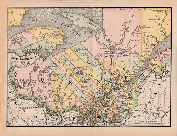 31 best scrapbooking supplies images on pinterest craft supplies old map of quebec canada from a digital printable map from artdeco on etsy sciox Gallery