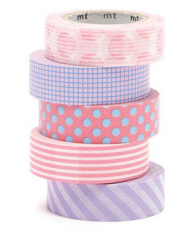 Look what I found on #zulily! Five-Piece Bubble Gum Washi Tape Set #zulilyfinds