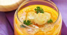 Soupe de potimarron, Saint-Jacques poêlées et huile à la truffe blanche