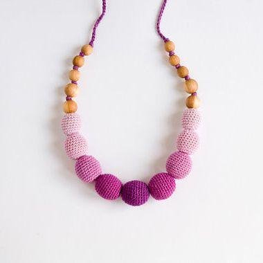 Ombre Berry Nursing Necklace