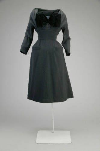 Dress by Dior, 1940s.