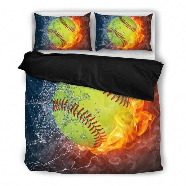 Bed Sheets 800 Thread Count Hollywilloughbybedding Id 1901365465 Sportsbedding Softball Bedding Set Softball Room Decor Softball Bedroom