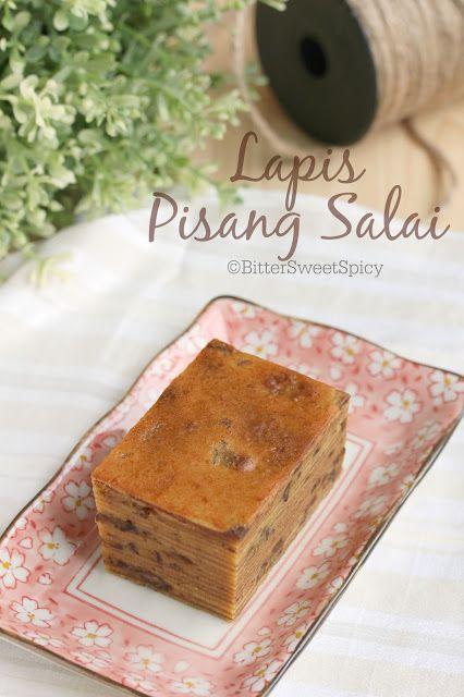 BitterSweetSpicy: Lapis Pisang Salai (Smoked Banana Lapis Cake)