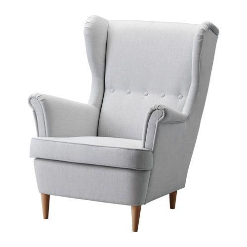 STRANDMON Wing chair Nordvalla light grey  - IKEA