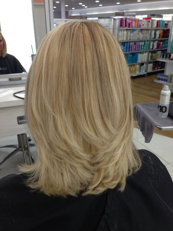 highlighted and lowlighted blonde