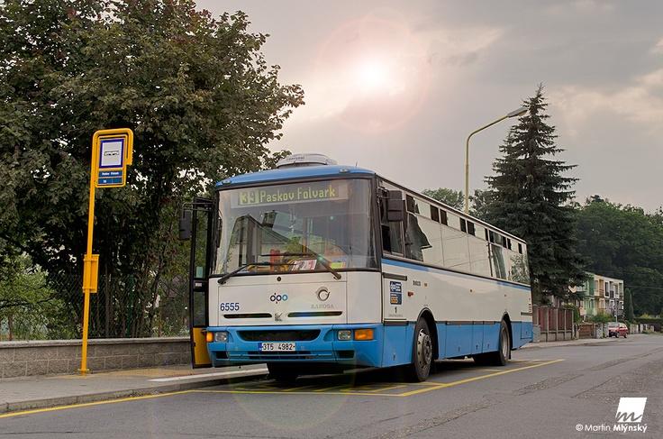Karosa bus in Ostrava city
