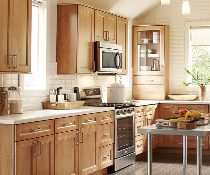 White Kitchen Cabinets Brown Tile Floor: Birch Kitchen Cabinets, Birch Wood Worktops And
