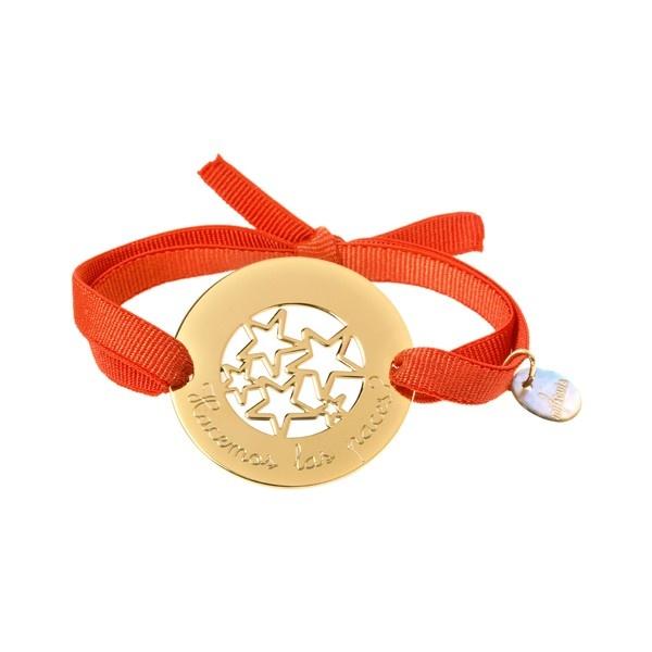 Pulsera personalizada Estrellas. Cordón goma.  #Regalos #personalizados #joyas #grabadas. #Gift