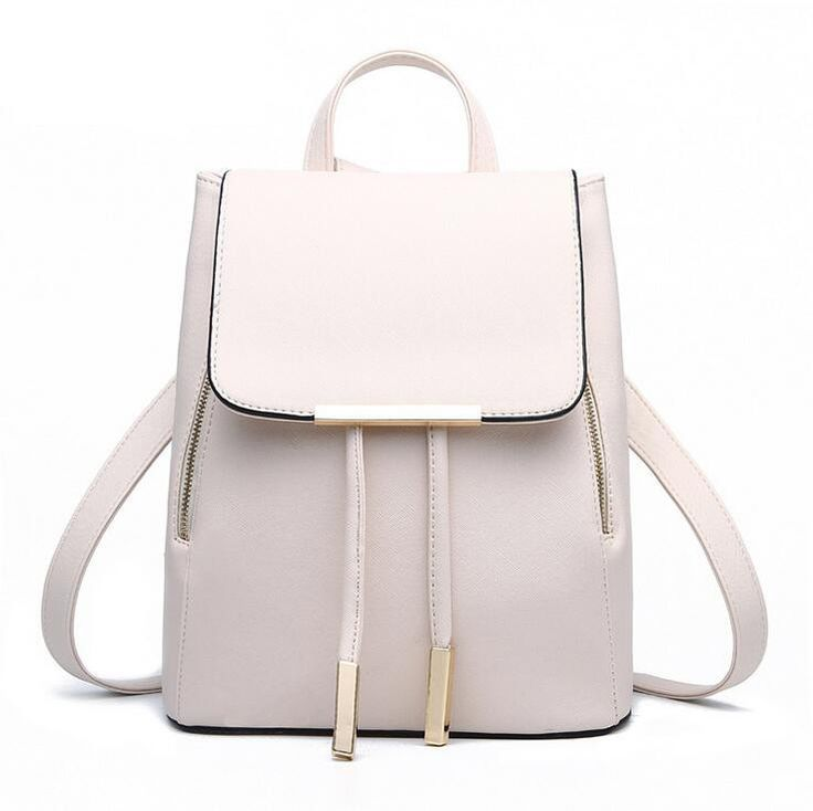 PU Leather Mochila Escolar School Bag