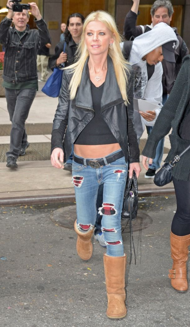 Tara Reid Rag Bone Plaid Ugg Boots Ugg Boots Bailey Button Ugg Boots With Bows