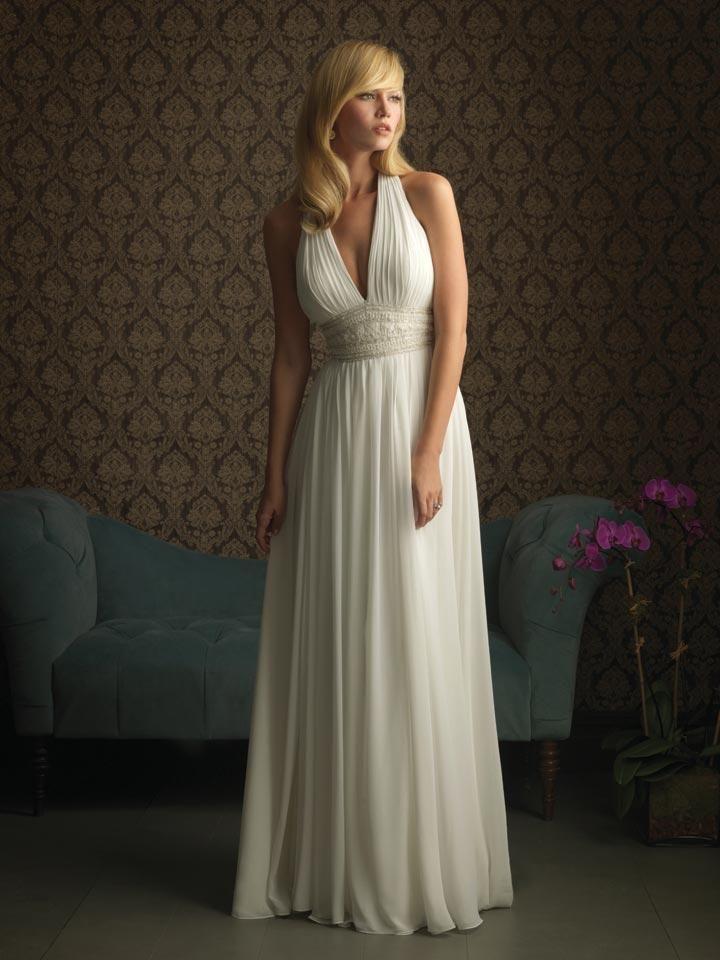 Chiffon Halter Wedding Dress