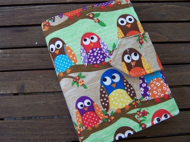 Owl Children's Crayon Wallet Toddler Travel Kit - Pencil roll - by Kazzalblue on madeit