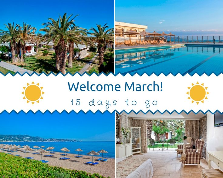 🌼Hello #March! Hello #spring!🌺 15 days left until our grand opening! ⏰ We just can't wait! 😁 #CretaBeach #CivitelHotels #resort #bungalows #summerloading #vacations #holidays #Crete