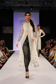 Indian Designer Khushboo at Lakme Indian Fashion Week as part of Summer 2013.