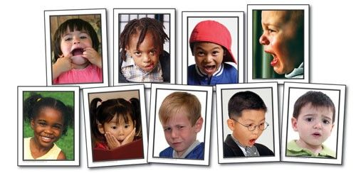 Facial Expressions  Idea:  make it a game with these...show kids card, see if they can copy the face, and see if I can guess what emotion It is...