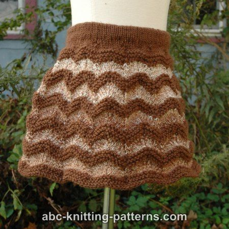 ABC Knitting Patterns - Autumn Gale Child's Chevron Skirt