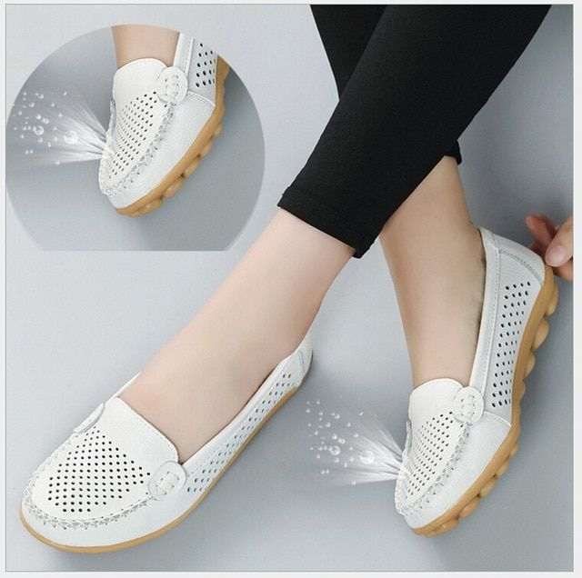 Details about  /Womens Pointed toe Flats Slip on Loafers Soft sole Casual Gomminos Spring Pumps
