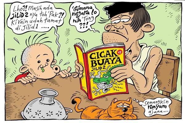 Mice Cartoon, Rakyat Merdeka Januari 2015: Cicak vs Buaya Jilid 2