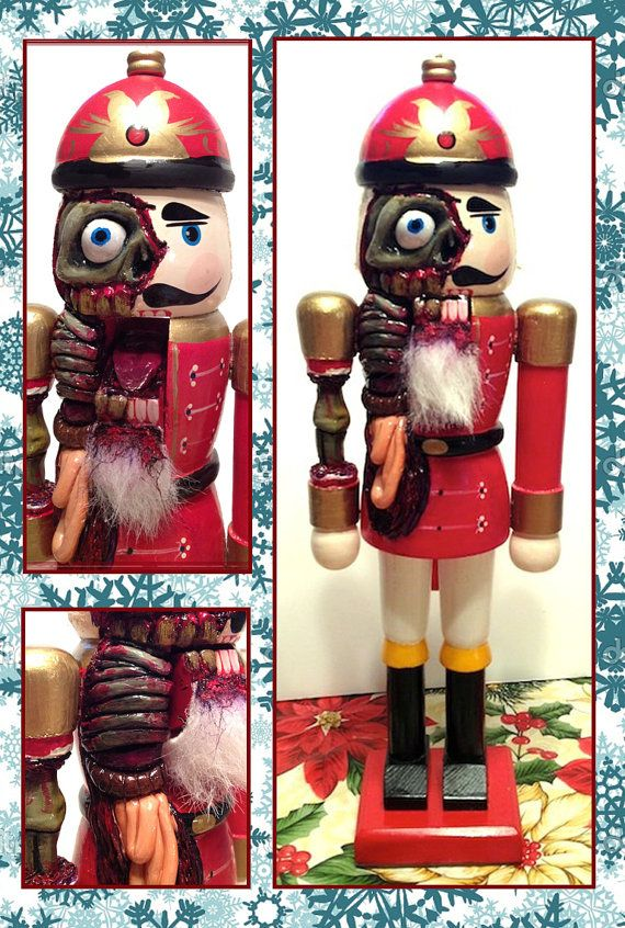 Nothing is safe in this house. Look at this nutcracking nightmare on the mantel! | Community Post: 12 Decorations To Have Yourself A Creepy Little Christmas