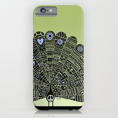 """""""Peacocks for Peace"""" iPhone 6 case  (Also available as an ipod case, ipad case, art print, or throw pillow!)"""