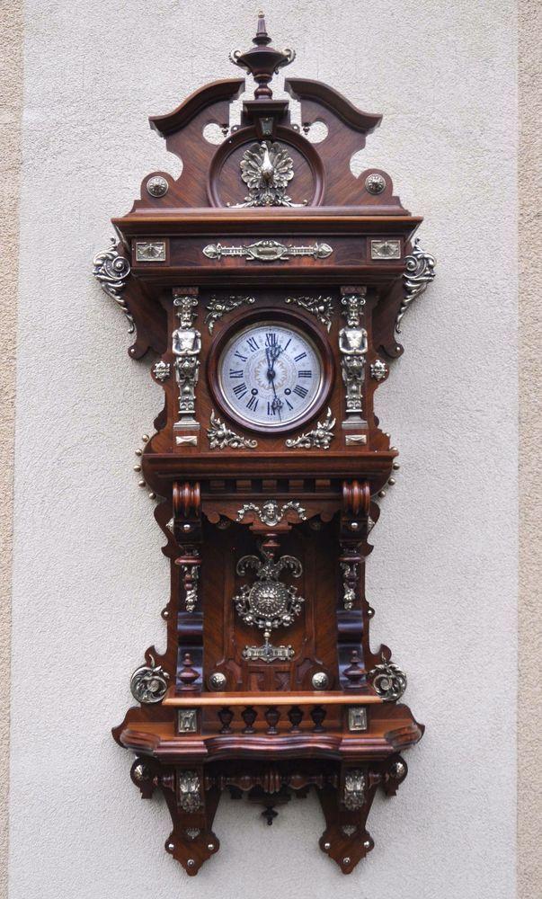 ~ Lenzkirch Balcony German Wall Clock with brass fittings ~ | ebay.com