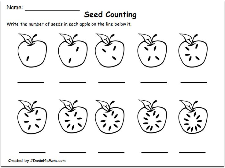 Counting Worksheets 1-10 with an Apple Theme : Counting ...