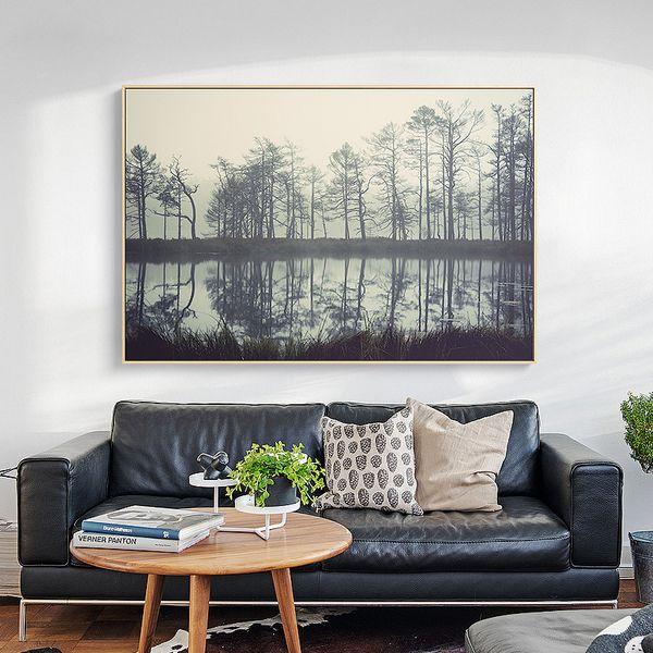Contemporary Landscape Wall Art Premium Canvas Art Print Extra Large  Dimensions - Landscape 120W x 80Hcm