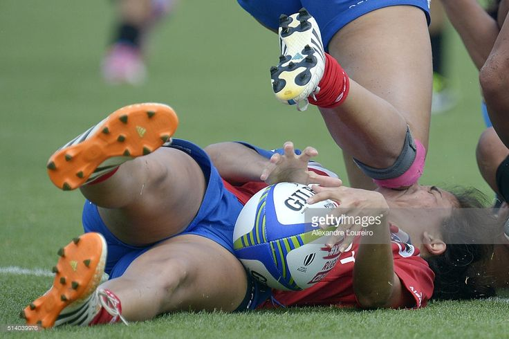 Carla Jorquera of Chile in action against Uruguay during the International Womens Rugby Sevens - Aquece Rio Test Event for the Rio 2016 Olympics at Deodoro Olympic Park on March 6, 2016 in Rio de Janeiro, Brazil.