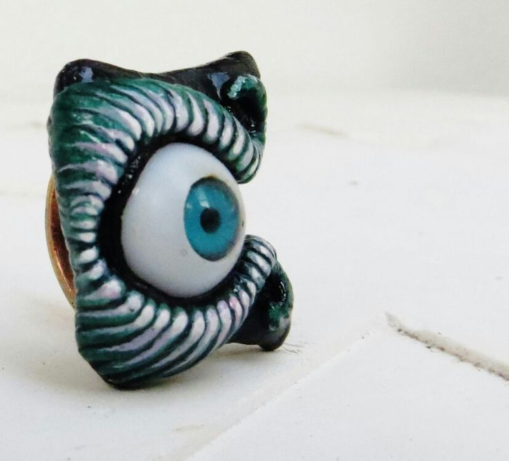 Customised Eye Ring I made  .. I sat on it though and it broke. .. so sad .. but they can be made again I suppose ... orders welcome!  #mifologi #jewelery #ring #eye #charm #psychedelic #cosmicbeasts