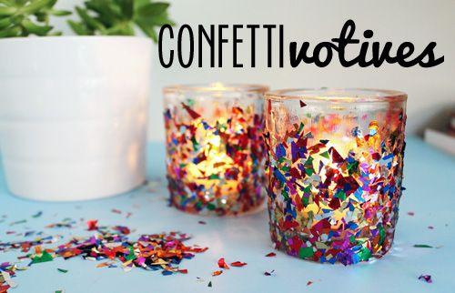 Unusually Lovely: Create Something - Blog - Confetti Votive CandleHolders