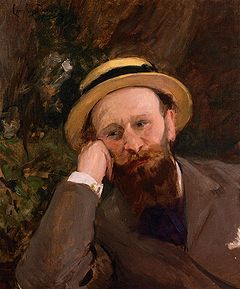 Édouard Manet Self portrait...something I have never tried but probably should.