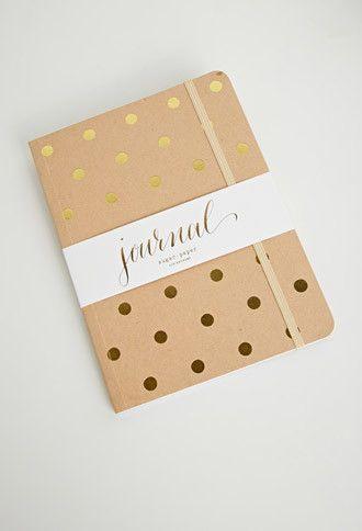 Sugar Paper Polka Dot Kraft Journal | Forever 21 - 1000141084