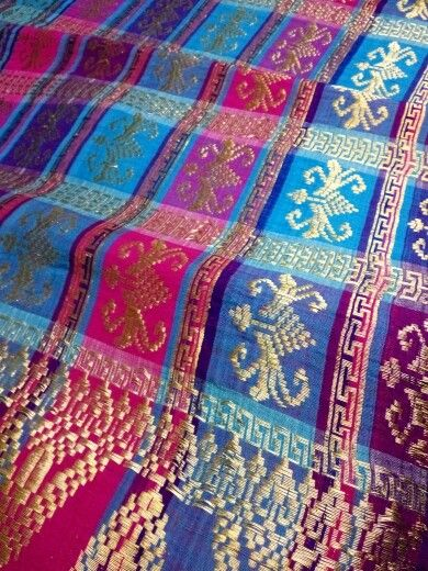 Songket bali with gold thread so glamour and royal