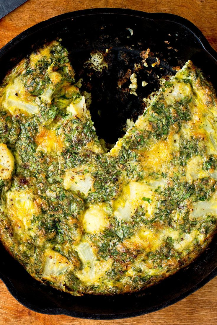 NYT Cooking: In the authentic version of this frittata there is a lot more olive oil, as well as chopped hard-boiled eggs. This one is lighter and simpler. It is great for lunch or dinner and keeps well in the refrigerator.