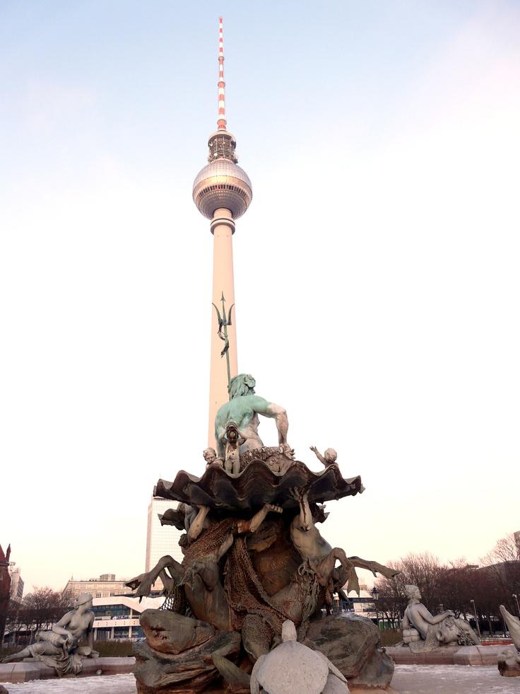 Berlin, Alexanderplatz.  Where we met our tour buses