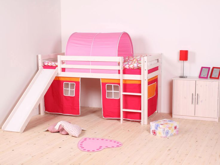 Childrens Beds With Slides thuka hit 19 white mid sleeper, thuka hit midsleeper beds, kids