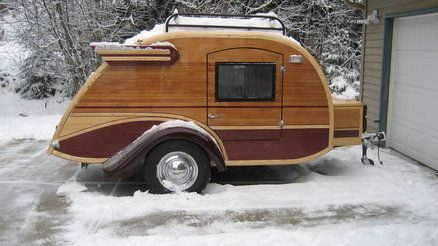 Adorable custom teardrop with western red cedar, and accents of ash and alaska yellow cedar.: Vintage Trailers, Campers Camps, Google Search, Teardrop Campers Trailers, Travel Trailers, Thanksteardrop Trailers, Beautiful Woodworking, Diy Teardrop Campers, Vintage Campers