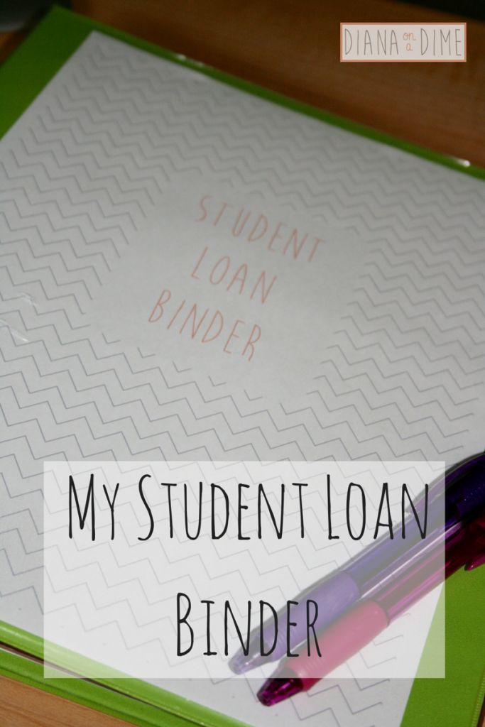 Diana on a Dime - Teacher living a frugal life paying off student loans. Take a look into how I organize my student loans in order to track my progress towards debt payoff with a binder! student loan debt student loan debt payoff #debt #studentloan