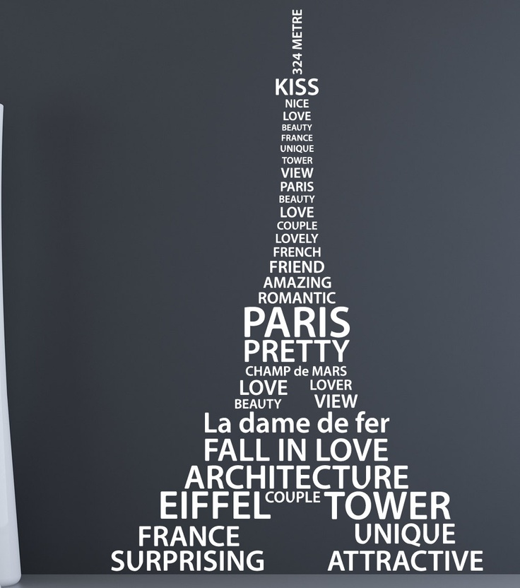 STENCIL EIFFEL TOWER ON TO WALL AFTER ITS PAINTED EEEEPP I love Paris vinyl wall decals Eiffel Tower, Etsy