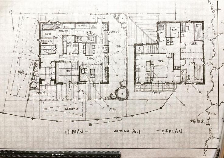 "1,316 Likes, 9 Comments - 石川 元洋/一級建築士、インテリアコーディネーター (@motohiro_ishikawa) on Instagram: ""・ 34坪4人家族の家 ・ 道路に隣接する桜並木を借景。 キッチンで奥様が全てを見渡せる。 回遊性のある導線計画。 ・…"""