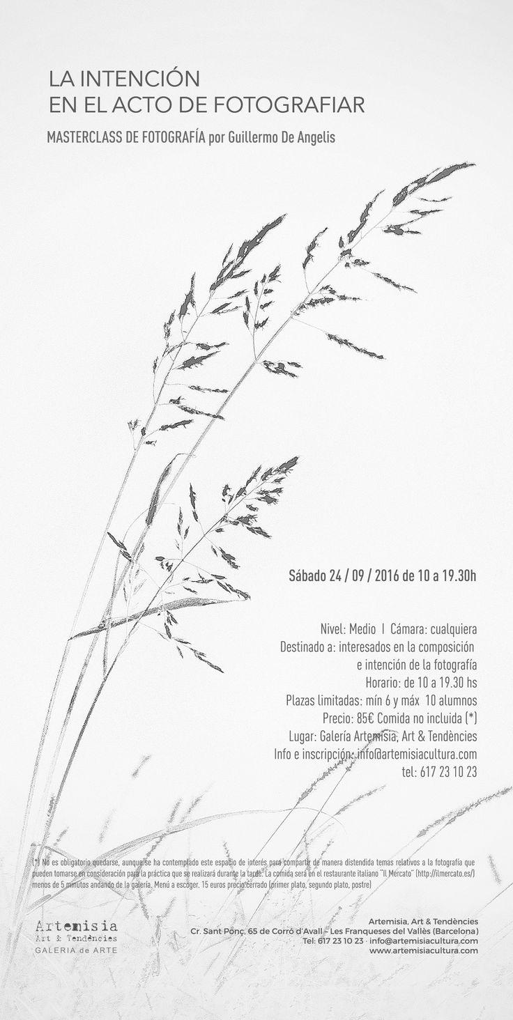 """Workshop con el fotógrafo Guillermo De Angelis """"La intención en el acto de fotografiar"""""""
