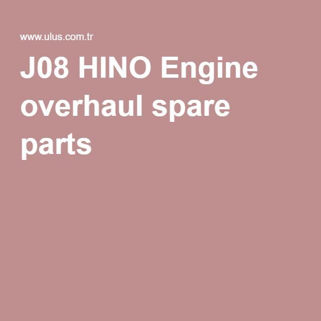 J08 HINO Engine overhaul spare parts
