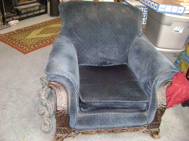 antique overstuffed sofa and chair ebay 325