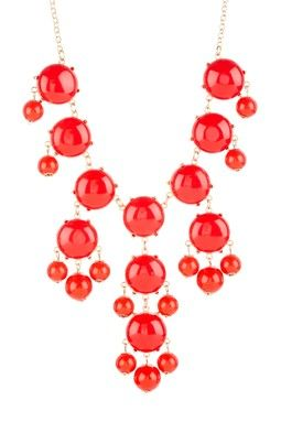 Red Bubble Dots Necklace