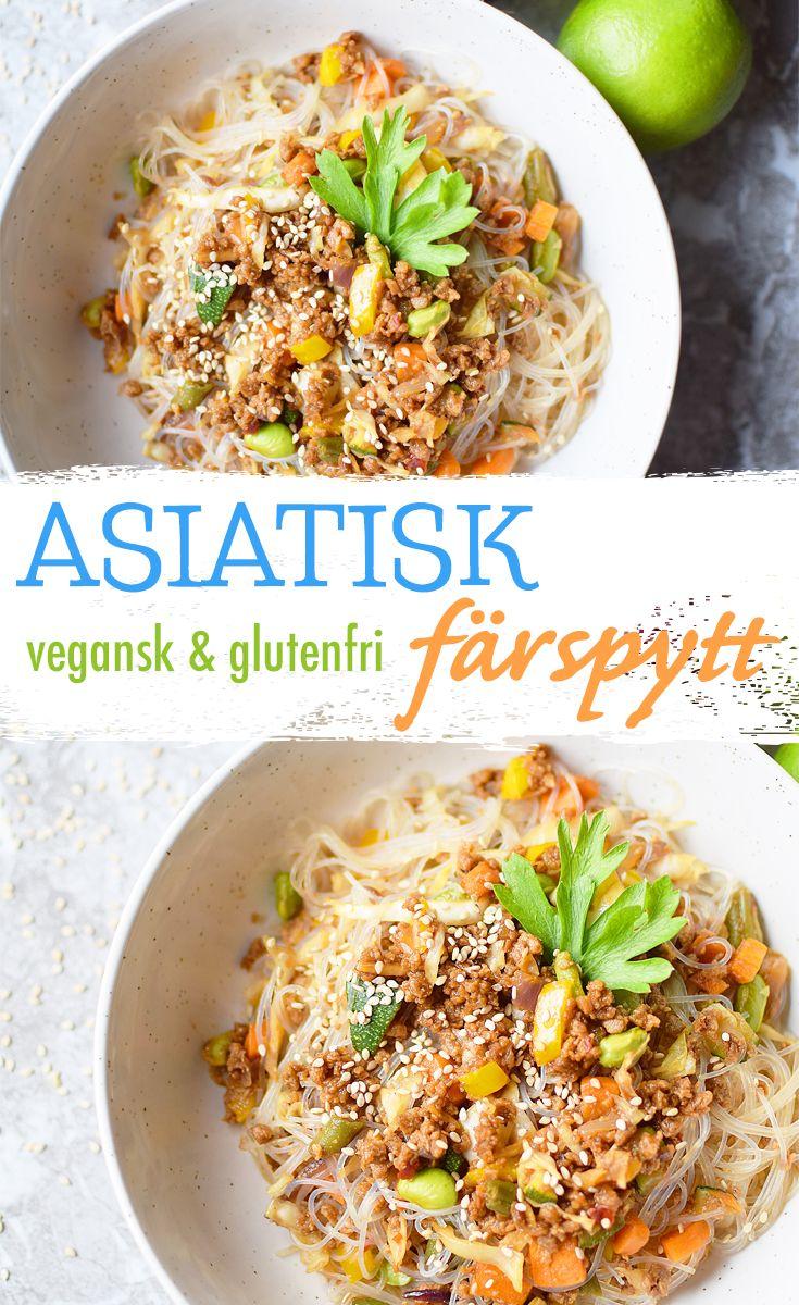 Vegansk mat behöver inte vara krångligt. Denna färspytt är rik på smaker och är helt glutenfri. Perfekt för dig som önskar en lättlagad måltid med asiatiska smaker.