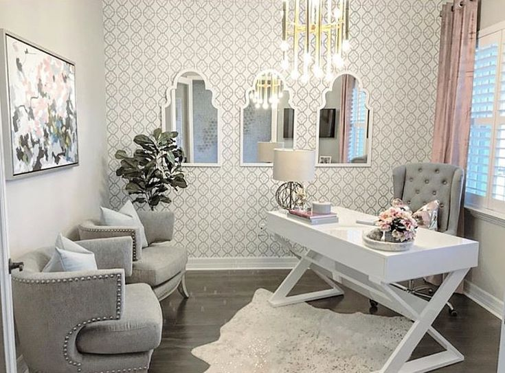 Pin On Glam Office #small #office #in #living #room