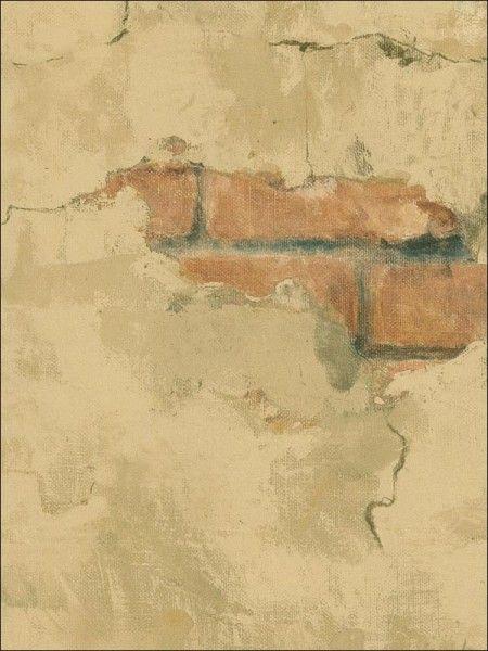 Tuscan Stone Wallpaper Brown Faux Wall Wallpaper